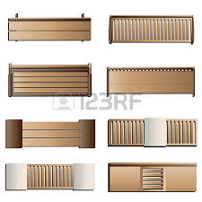 Wooden Bench Design Outdoor Furniture Bench Top View For Landscape Design Set 5
