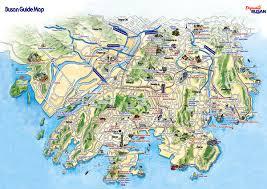 pusan on map busan city tourist map busan korea mappery