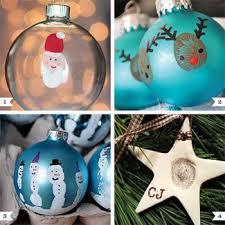diy handprint and thumbprint ornaments ornament diy ideas and