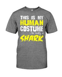 funny really a shark t shirt halloween costume zoo animal u2013 t