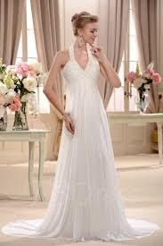 plain wedding dresses plain empire halter top court wedding dress tbdress
