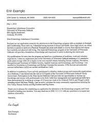 cover letter kinesiology admissions portfolio sample oshkosh