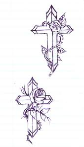 here home ideas cross with flowers tattoos celtic cross