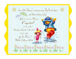 winnie the messages for baby shower card pooh pictures