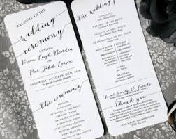 ceremony programs rustic lace wedding program sided digital printable