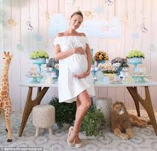 Angel Decorations For Baby Shower Candice Swanepoel Celebrates At Safari Themed Baby Shower That