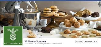 top 10 facebook pages number 3 williams sonoma
