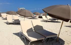 Beach Lounge Chair Umbrella Private Beach Albion Hotel Miami Beach Florida