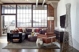 Loft Style Living Room Urban Loft Redesigned For Business And Pleasure Griffith