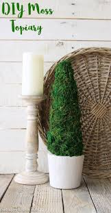 Moss Vase Filler Diy Farmhouse Style Moss Topiary Tree The Happy Housie