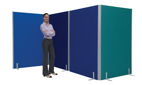 Divider Partition by Office Partition Screen Room Divider 1500 X 1600mm Blue
