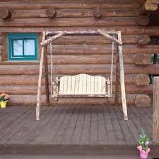 rustic porch swings you u0027ll love wayfair