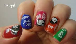 images of comic book nail art lotki images of comic book nail art