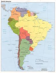Map America by South America Political Map Countries
