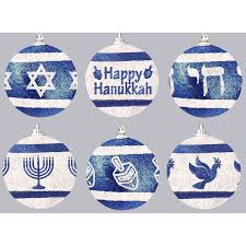 hanukkah ornaments shatterproff hanukkah glitter ornaments