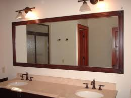 Bathroom Mirror Frame Ideas Long Wooden Mirror Getpaidforphotos Com