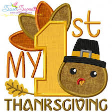 my 1st thanksgiving machine applique embroidery design thanksgiving