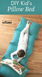 diy kid u0027s pillow bed u2013 christmas gift idea for your son or