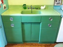 Metal Kitchen Sink Cabinet Unit Erica S Thrifty Jadeite Kitchen Remodel 18 Photos Sinks