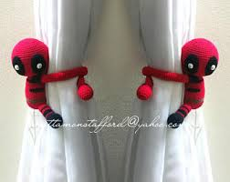 Where To Buy Curtain Tie Backs 1 Superman Crochet Curtain Tie Back Handmade Superman