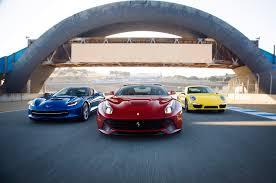 porsche 911 vs corvette 2014 chevrolet corvette stingray z51 vs 2014 f12