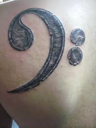 31 best bass clef guitar tattoo images on pinterest bass tattoo