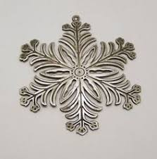 sterling silver snowflake ornament christmas decorating 2016