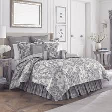 the everly bedding collection exudes elegance in shades of ivory