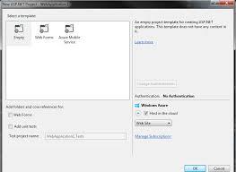 c vs 2013 asp net web application template stack overflow