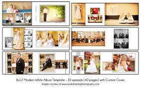 custom wedding photo album modern white 8x12 digital wedding album template 20 spread 40