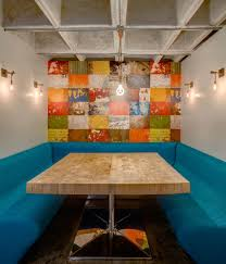 Butcher Block Dining Room Table by Apartment Dining Room Polanco Colorful Apartment By En Movimiento