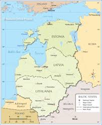 Map Of Lithuania Map Of The Baltic States Nations Online Project