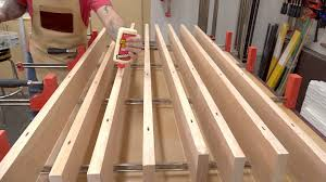table top glue up braces top wedges finishing knock down trestle table pt 2