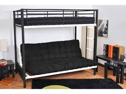 lit mezzanine canape futon modulo spécial banquette lit 135x190cm 2 coloris
