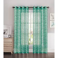 Extra Wide Thermal Curtains Window Elements Sheer Botanica Faux Linen 54 In W X 84 In L Semi