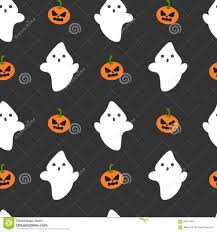 vector ghosts cartoon ghost and pumpkin seamless halloween pattern background