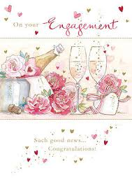 Congratulations On Engagement Card Engagement Card Champagne U0026 Roses Design Size 4 75 X 6 75 Ghe215