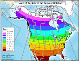 Daylight World Map by Sunrise Time Sunset Time And Hours Of Daylight On The Summer