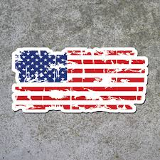 Blue White Red White Blue Flag Red White And Blue Tattered Flag Decal U2013 Inshane Designs