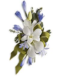 White Orchid Corsage White Orchid And Rose Corsage Teleflora