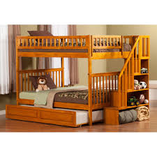 Columbia Full Over Full Bunk Bed by Atlantic Furniture Ab56832 Woodland Full Over Full Staircase Bunk