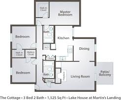Bath Floor Plans Surprising 3 Bedroom 2 Bath Apartment Floor Plans Pics Inspiration