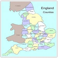 counties map map uk showing counties major tourist attractions maps
