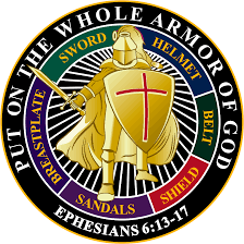 on the whole armor of god decal black