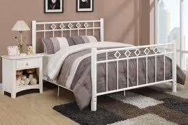 twin white metal bed frame u2014 derektime design elegant and