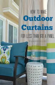 Patio Drapes Outdoor Outdoor Curtains Diy Video And Photos Madlonsbigbear Com