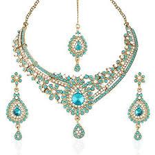 turquoise stone necklace set images Tikka set jpg