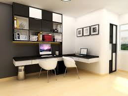 Modern Floating Desk Modern Study Room With White Floating Desk With Black Top And