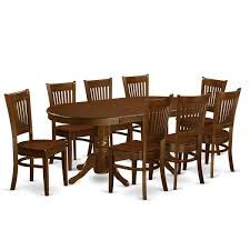 vanc9 esp 9 piece dining room set for 8 dining table with a leaf