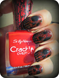concrete and nail polish scary monster nails